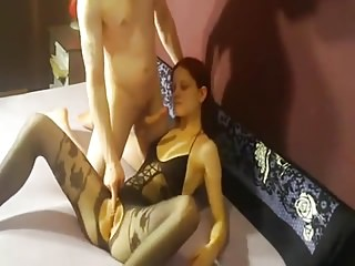Pantyhose Wife Homemade video: Amatuer Bodystocking Sex