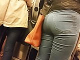 Blonde jeans busted candid
