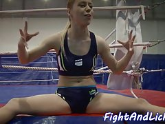 Seductive eurobabes love wrestling