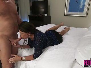 Hardcore Blowjob Brunette video: He fucks his sexually frustrated female boss