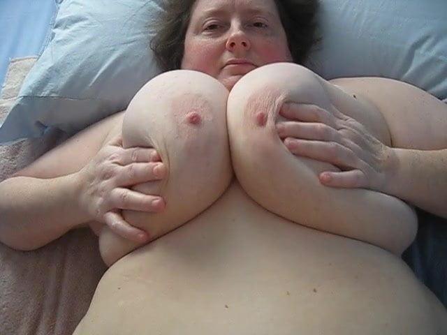 Big mature boob stroke