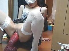 XXL Bad Dragon Dildo zříceniny dospívající kundičky