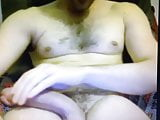 Hung straight dude jerking his big dick