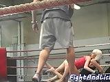 Euro dyke seduces her wrestling opponent