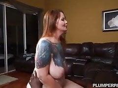 Busty Curvy Redhead Wife Vanya Vixen Swallows Black Cock