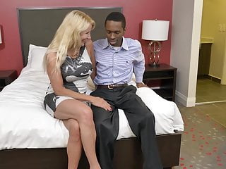 Interracial Blowjob Big Tits video: Mature mother try black cock
