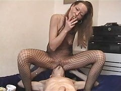German mature Beatrice in fishnets - anal fucked