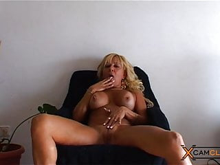 Softcore Big Tits Milf video: Barbara Blonde Webcam - Busty MILF Plays with Pussy and Ass