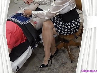 Stockings Shemale Amateur Shemale video: Femdom Sissy Handjob By Mistress Medical Sound