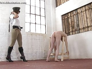 Blonde Bondage Whipping video: Mistress Jo. Belting. Full Clip.