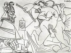 Disegni erotici di Pablo Picasso