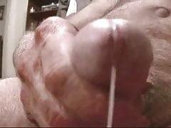 Senior mature grandpa masturbating and eating sperm | Porn-Update.com