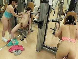 Sexy Japanese babe Tomomi Nakama dicked hard in the gym