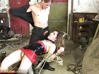 Big Tits Shemale Guy Fucks Shemale Shemale Big Cock Shemale video: Small cock tranny in latex dress gets fucked in bondage