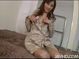 Kinky little Japanese slut Yuu Kusunoki gives her guy a