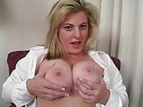 Sexy Chubby Blonde gives Jerk Off Instructions