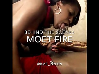 Black Behind The Scenes Scenes video: Behind the scenes with Moet fire