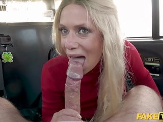 Porno video: Fake Taxi Sasha Steele gets her tits out at the car wash