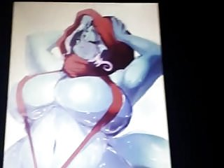 THICC Blue Alien Girl Cum Tribute (Requested by HankKD7)