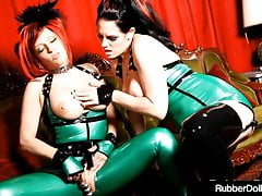 Goddesses Goddesses RubberDoll & Shae Fatale Fuck In Latex!