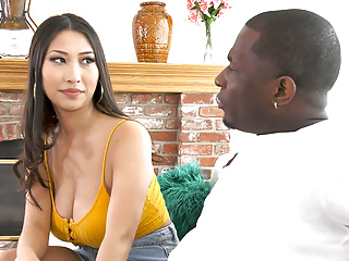 Hardcore Asian Blowjob video: Sharon Lee Craves Personal Guide' Big Black Dick