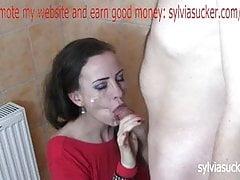 Wifey Facial Cum intonaco e Cum Play in rosso