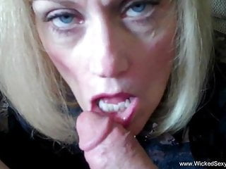 Gaping Hardcore Blowjob video: Incredible Amateur GILF Does Sexy