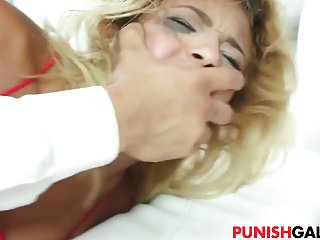 Super sexy Ally Berry gets punished