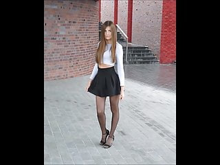 Pantyhose Babe Nylon video: Girls in nylon you are will drive crazy