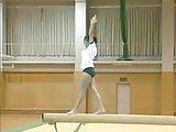 Romanian gymnast beam exercises