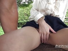 Chihiro Akino Shows Cunt In The Open Air - Caribbeancom