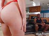 Succubus Abella Danger blows before interracial anal