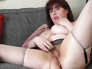 Big Tits Milf Mature video: Busty mature mom with hairy hungry vagina