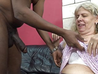 Granny Dildo Creampie video: Greedy granny seduced by horny stepson