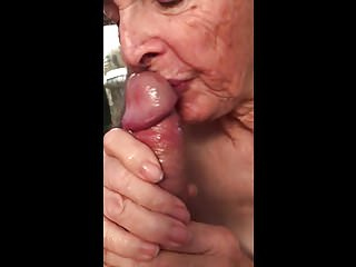 Amateur Handjobs Grannies video: Grandma's cum compilation 2