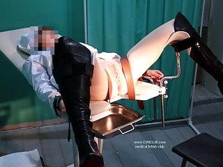 orgasm on a gynecological chair