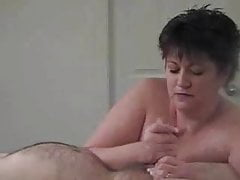 mature bbw takes a mouthful