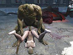 Fallout 4 Katsu sex adventure chap.7 Supermutant anal