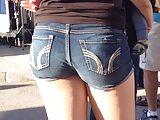 Teen ass in jean shorts