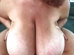 Ginger Busty Monster Boobs Doggystyle Fuck Slomo