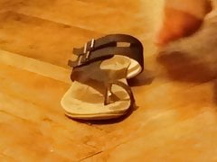 PUTTING ON LEATHER SANDALS