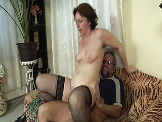 Stockings Blowjob Granny video: Grandmas horny dream