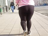 Fat ass in black pants