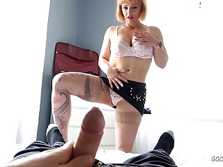 Pov Blowjob Big Cock video: Big Tits Step Mom Mary Caught Son Masturbate and Finish Him