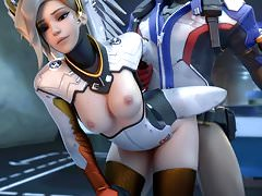 Soldier 76 donne sa charge à Mercy