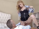 Older man teaches bratty step daughter a lesson