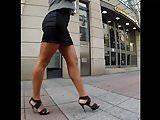 Hot Business Milf Walking in Street