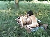 threesome outside