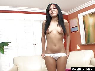 Cumshots Teens video: First Time For Petite Ebony Teen
