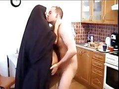 La moglie di Hijab Burka barare si fa scopare